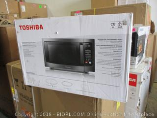 Toshiba Black Stainless Steel Finish Microwave