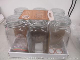 Preservation Jars with Spring Clamp Lids