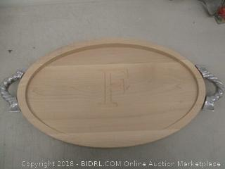 Wooden Initial Serving Tray