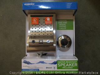 Oxygenics Contaour + Speaker 6-Settings Brush Nickel Shower System