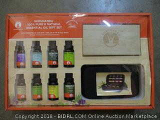 Gurundana 100% Pure & Natural Essential Oil Gift Set  with carry bag and Box  Factory Sealed