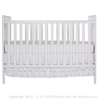 Dream On Me Classic 3 in 1 Convertible Crib White (online $126) (mattress not included)