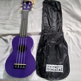 Makai Deep Purple Soprano Mahogany Ukulele (MK-10DPP)