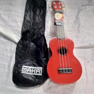 Makai Red Soprano Mahogany Ukulele (MK-10RD)