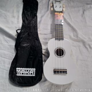 Makai White Soprano Mahogany Ukulele (MK-10WT)