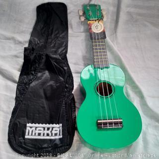 Makai Green Soprano Mahogany Ukulele (MK-10GN)