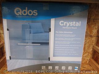 Qdos Hardware Mount See-Through Pet Gate - please preview