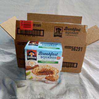 Quaker Breakfast Squares - 4 Boxes