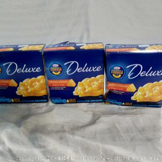 Deluxe Mac & Cheese - 3 Boxes (1 box has small hole)