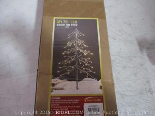 3ft 72L LED Snow Fir Tree