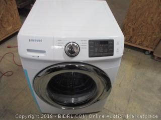 Samsung Front Load Washer ,VRT plus , Powers On , Dented See Pictures
