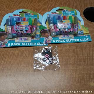 Glitter Glue and bear