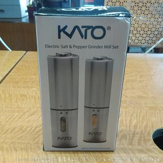 KATO Electric Salt & Pepper Grinder Mill Set