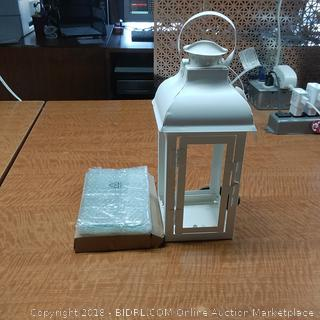 Home Locomotion Gable Medium White Lantern