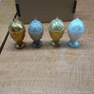 Candles Faberge Egg Small  Set of 4