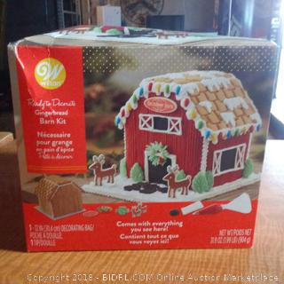 Wilton Ready to Decorate Gingerbread Barn Kit  / Comes with everything you need See Pictures
