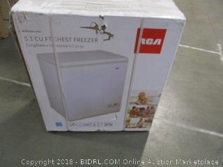 RCA 5.1 Cubic Foot Chest Freezer (Retail $226.00)