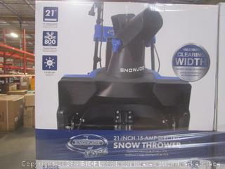 Snow Joe Ultra SJ625E 21-Inch 15-Amp Electric Snow Thrower (Retail $149.00)