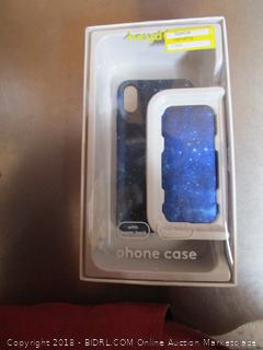 Iphone X case with power bank. Blue
