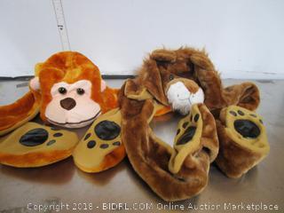 Kids Hat / Scarf Monkey Lion