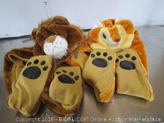 Kids Hat / Scarf Bear Squirrel