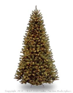 National Tree 9 Foot North Valley Spruce Tree with 700 Clear Lights, Hinged (NRV7-300-90) (Retail $214.00)