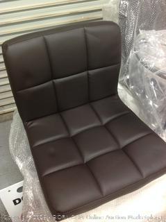 "Boris Contemporary ""Leather"" Adjustable Bar Stools-NEW(Online $124.91)"
