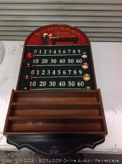 Billiard Parlor Scoreboard & Ball Holder, Slightly Damaged(online $131.49)