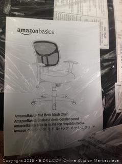 AmazonBasics Mid-Back Black Mesh Chair-NEW (Online $67.99)
