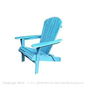 Carabelle Patio OutdoorVillaret Adirondack Wood Chair-NEW (online $68)