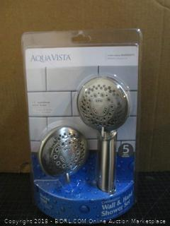 Aqua Vista Combination Wall & Hand Shower Set Factory Sealed