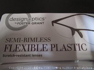 DesignOptics by Foster Grant - Reading Glasses +2.00