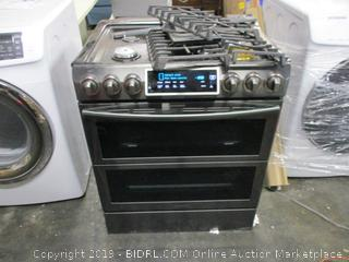 Stove w/ Oven (Damaged, Powers On)