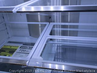 Samsung Refrigerator (Works Great, Stays Refrigerated) (Powers On) (Please Preview) (Damaged) (Dented)