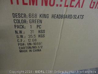 King Headboard/Slats