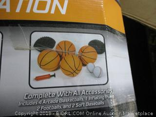 3-in-1 Shoot, Pitch, & Pass Sports Station