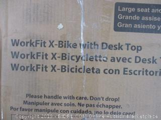 WorkFit X-Bike W/ Desk Top