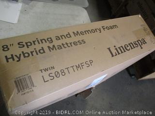 "8"" Spring and Memory Hybrid Mattress Size Twin"