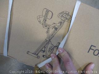 Folding Exercise Bike w/ Back
