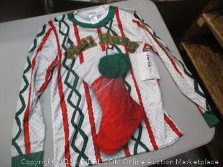 Christmas Faux Shirt Size S