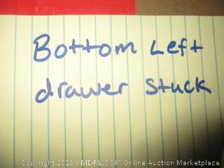 dresser - some damage to drawer
