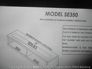 wall mounted AV console