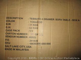 tessuto 4 drawer sofa table