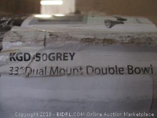 dual mount double bowl kitchen sink