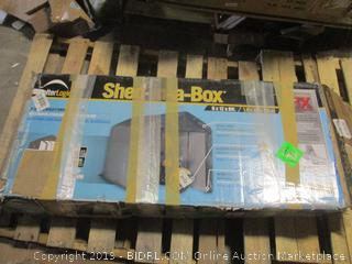 Shelter Logic shed in a box