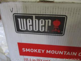 weber smokey mountain cooker smoker