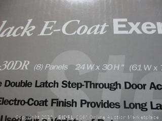 black e-coat exercise pen