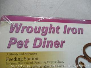 wrought iron pet diner