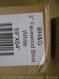 """2"""" Fauxwood Blind White"""