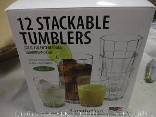 12 Stackable Tumblers